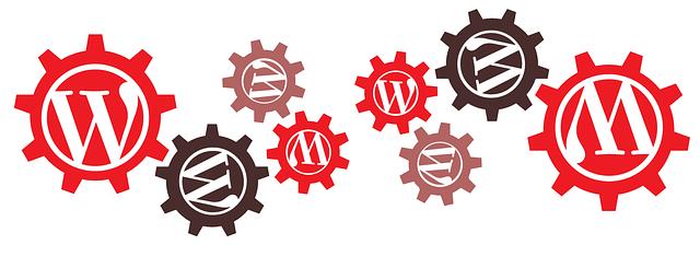 ozubená kolečka s logem WordPress