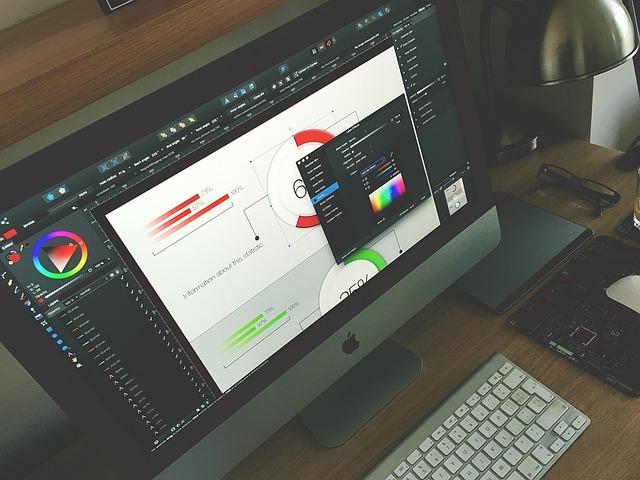 grafické studio v notebooku